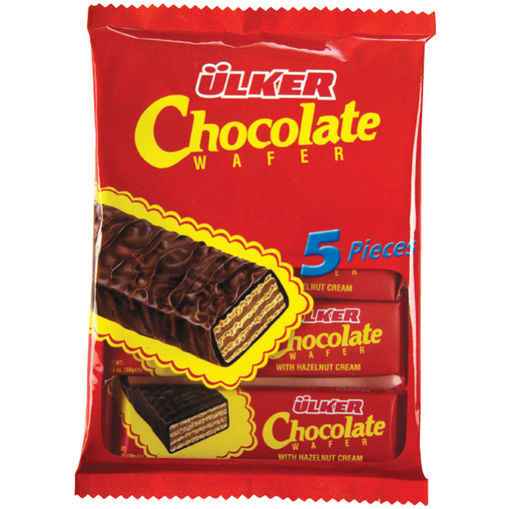 ULKER Chocolate Wafer 190g (5 in 1) resmi