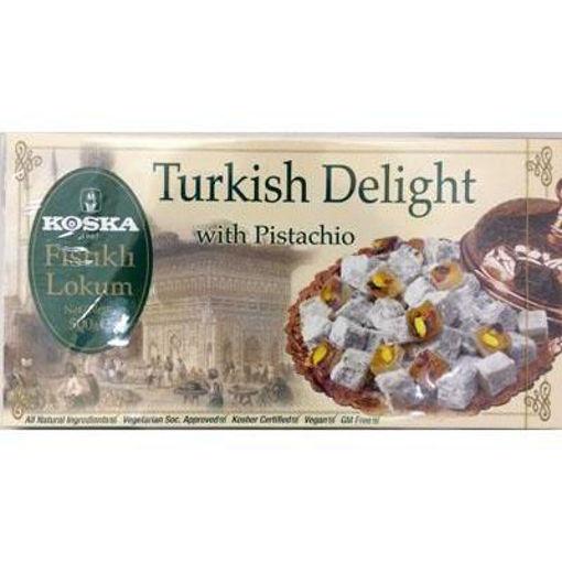 KOSKA Turkish Delight w/Pistachio 500g resmi