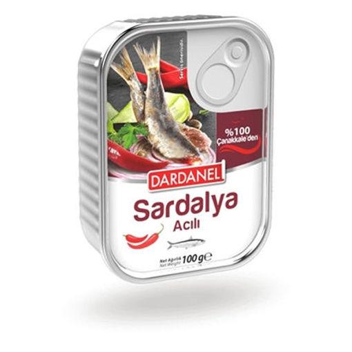 DARDANEL Hot Sardines in Oil 100g resmi