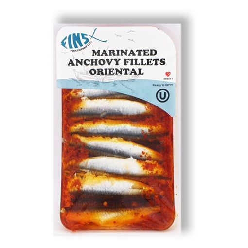 FINS Oriental Marinated Anchovy Fillets 125g resmi
