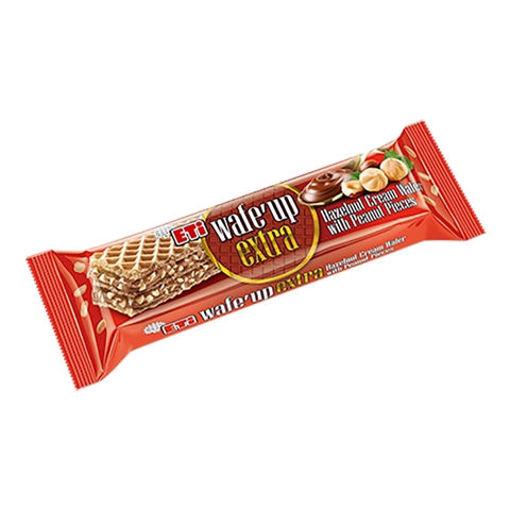 ETI Wafe Up Extra Hazelnut Cream Wafer w/Peanut Pieces 50g resmi