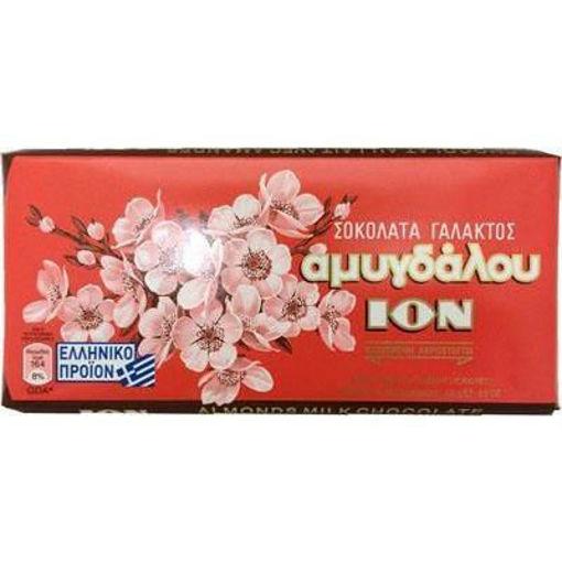 ION Greek Milk Chocolate Bars w/Almonds 100g resmi