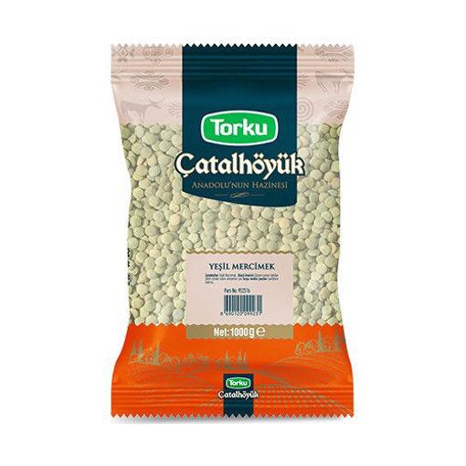 TORKU Catalhoyuk Green Split Lentils (Yesil Mercimek) 1kg resmi