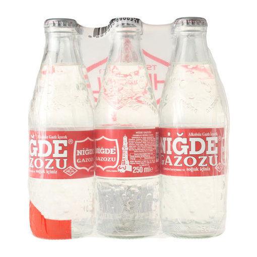 NIGDE Gazozu (Raspberry Flavored Soda) 6pc x 250ml resmi