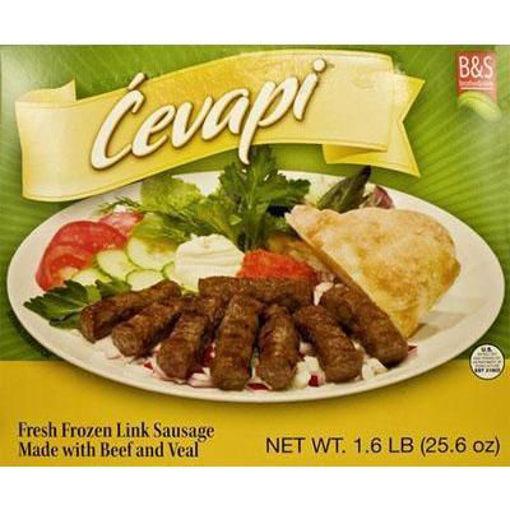 BROTHER&SISTER Cevapi Fresh Frozen Link Sausage 1.6lb (Green Pack) resmi