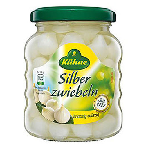 KUHNE Silber Zweibeln (Silverskin Onions) 330g resmi