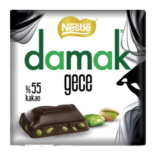 NESTLE Damak Gece %55 Cocoa Bitter Chocolate w/Pistachio 65g resmi