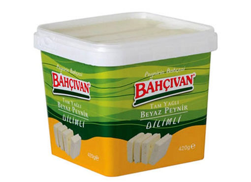 BAHCIVAN Full Fat Sliced  White Feta Cheese - 420g Net Drained Weight resmi