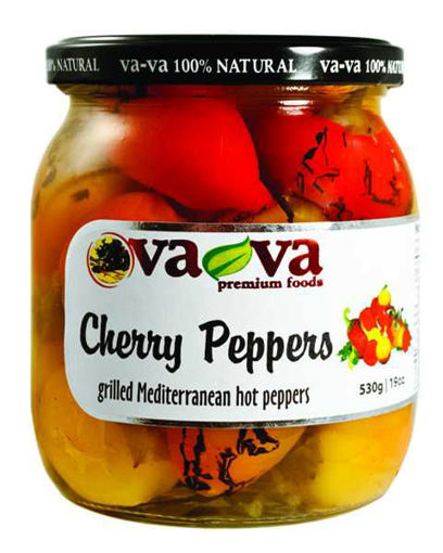 VAVA Cherry Peppers w/Cheese 530g resmi