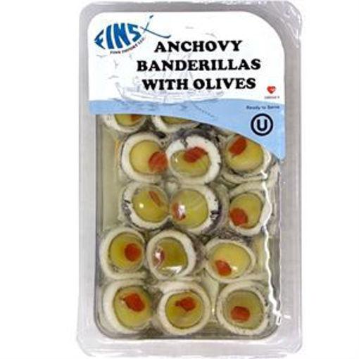 FINS Anchovy Bandirellas w/Olives 75g resmi