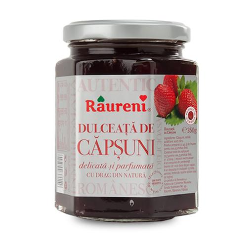 RAURENI Dulceata de Capsuni (Strawberry Preserve) 350g resmi