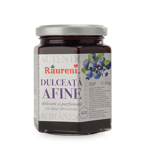 RAURENI Dulceata Afuine (Blueberry Preserve) 350g resmi