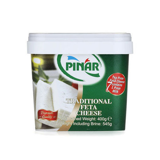 PINAR Full Fat Traditional Feta Cheese - 400g Net Drained Weight resmi