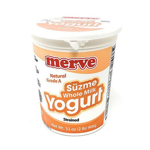 MERVE Strained Whole Milk Yogurt (Suzme) 906g resmi