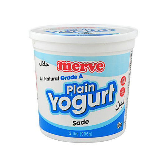 MERVE Plain Whole Milk Yogurt (Sade) 906g resmi