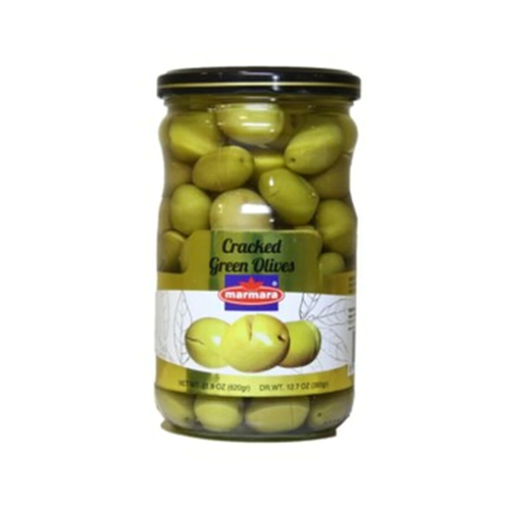 MARMARA Crackled Green Olives 400g resmi
