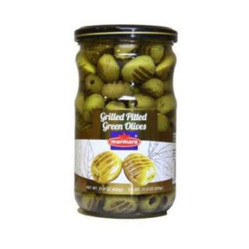 MARMARA Grilled Pitted Green Olives 400g resmi