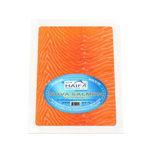 HAIFA Cold Smoked Nova Salmon 4 oz resmi