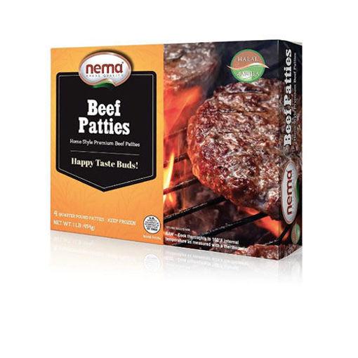 NEMA Frozen Beef Patties (4 Quarter Pound Patties) 1lb resmi