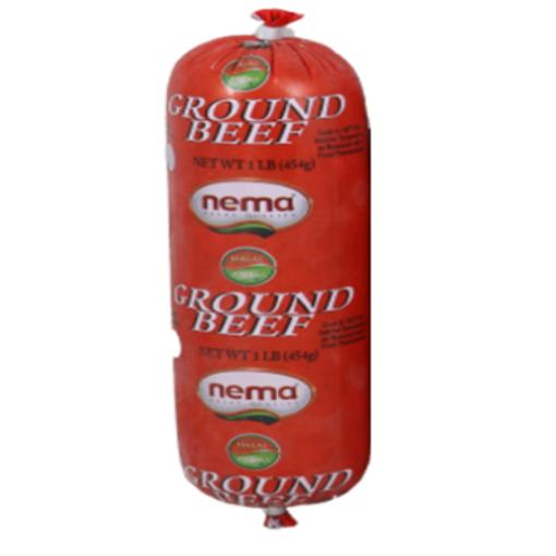NEMA Frozen Ground Beef 1lb resmi