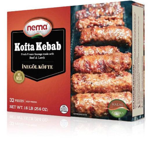 NEMA Frozen Kofta Kebab (Inegol Kofte) 1.6 lb resmi