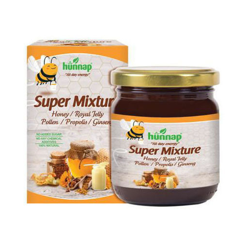 HUNNAP All Natural Super Mixture - Honey, Royal Jelly, Pollen, Propolis, Ginseng 230g resmi