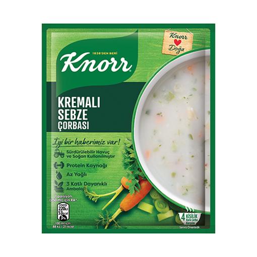 KNORR Cream Vegetable Soup 68g resmi