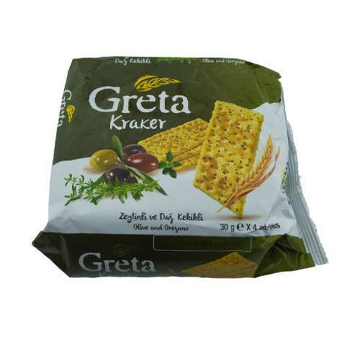 GRETA Crackers w/Olive Oil & Oregano 120g resmi