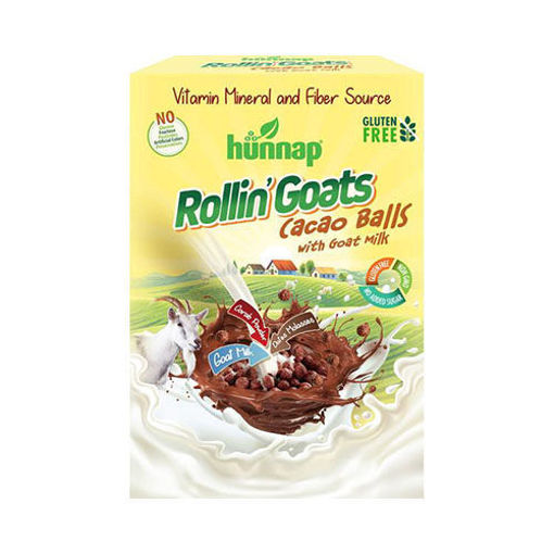 HUNNAP Rollin' Goats - Gluten Free Cereal with Goat Milk 250g resmi