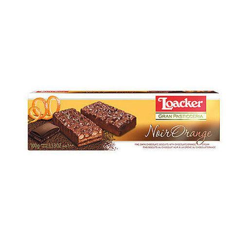 LOACKER Noir Orange Dark Orange Biscuits 100g resmi
