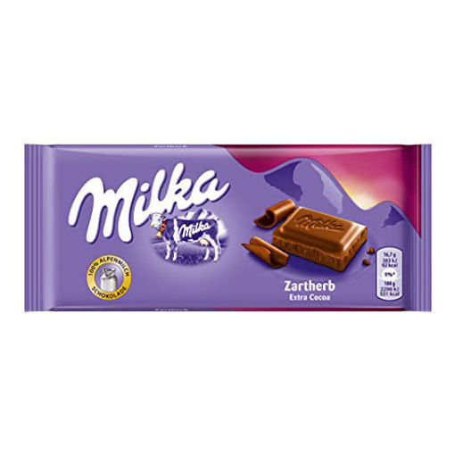 MILKA Bittersweet Dark Chocolate Bar 100g resmi