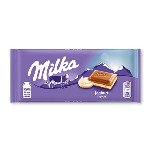 MILKA Joghurt Chocolate Bar 100g resmi