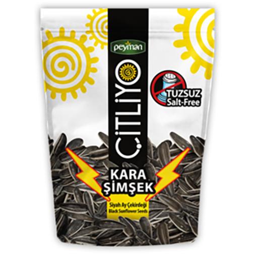 PEYMAN Kara Simsek Unsalted Black Sunflower Seeds 160g resmi