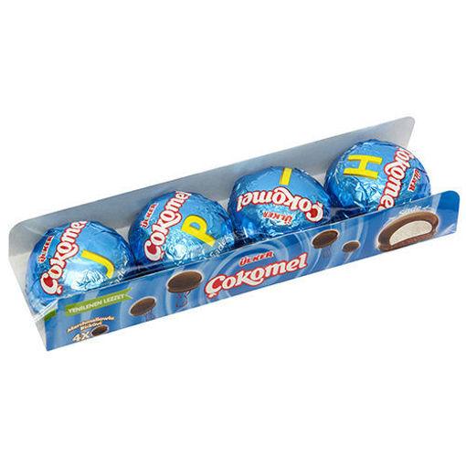 ULKER Cokomel Marshmallow Biscuit 48g / 4pc resmi