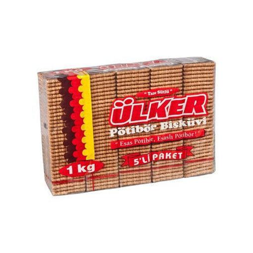 ULKER Potibor Tea Biscuits (5 Pack) 1kg resmi
