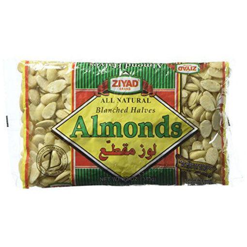 ZIYAD Blanched Halves Almonds 343g resmi