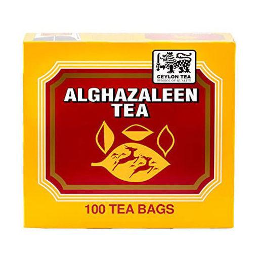ALGHAZALEEN Pure Ceylon Tea (100 Tea Bags) 200g resmi