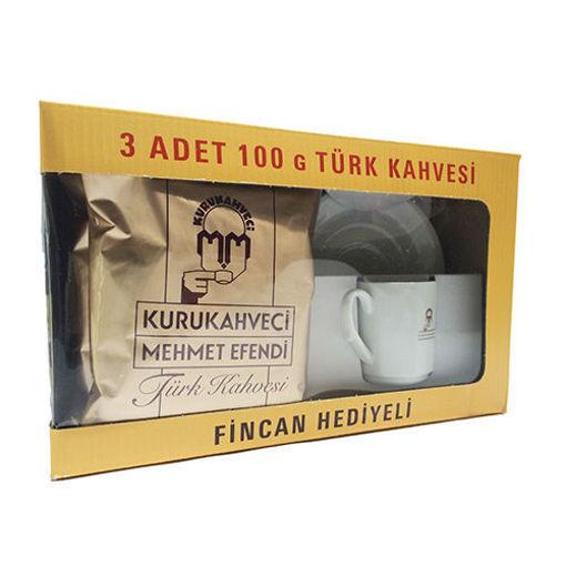 MEHMET EFENDI Turkish Coffee (Cup Free) 3pc x 100g resmi