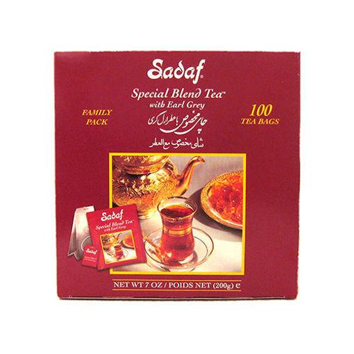 SADAF Special Blend Earl Grey Tea (Family Pack) 100 Tea Bags resmi
