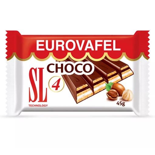 SWISSLION Takovo Eurovafel Choco 4 Chocolate Bar 45g resmi