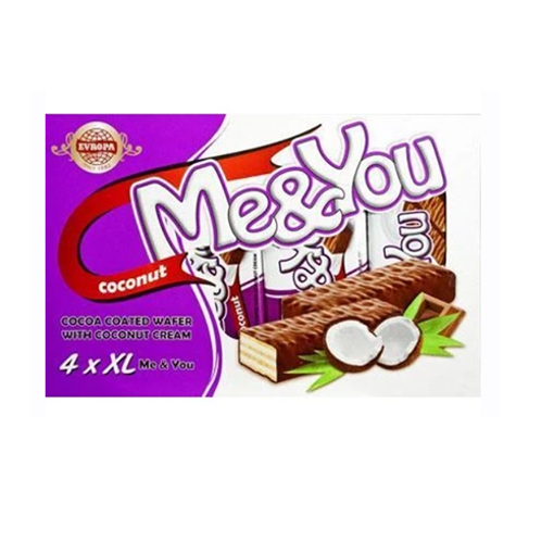 EVROPA Me&You Cocoa Coated Wafer w/Coconut 152g (4 pc) resmi