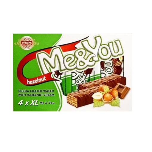 EVROPA Me&You Cocoa Coated Wafer w/Hazelnut 152g (4 pc) resmi