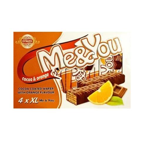 EVROPA Me&You Cocoa Coated Wafer w/Orange 152g (4 pc) resmi