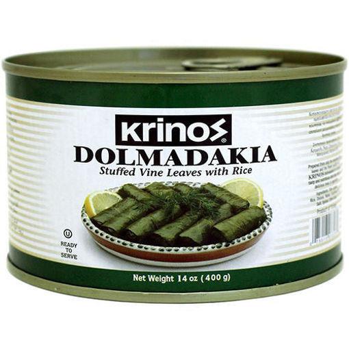 KRINOS Grape Leaves Stuffed w/Rice (Dolmadakia) 400g resmi