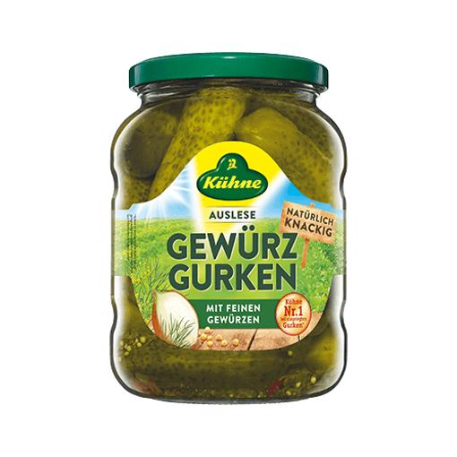 KUHNE Gewurz Gurken (Pickled Gherkins) 670g resmi