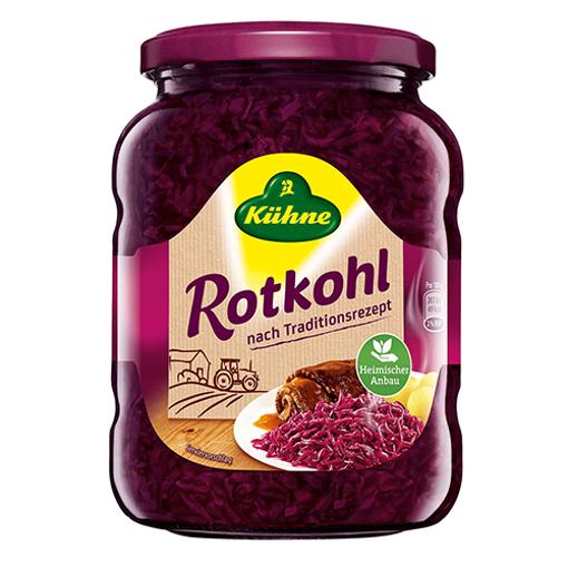 KUHNE Rotkohl (German Red Cabbage) 650g resmi