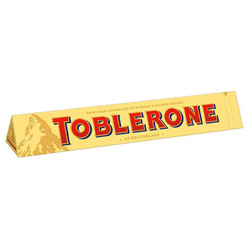 TOBLERONE Swiss Milk Chocolate With Honey & Almond Nougat 100g resmi