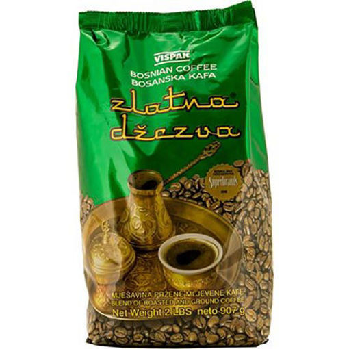 VISPAK Ground Coffee (Zlatna Dzezva) 907g resmi