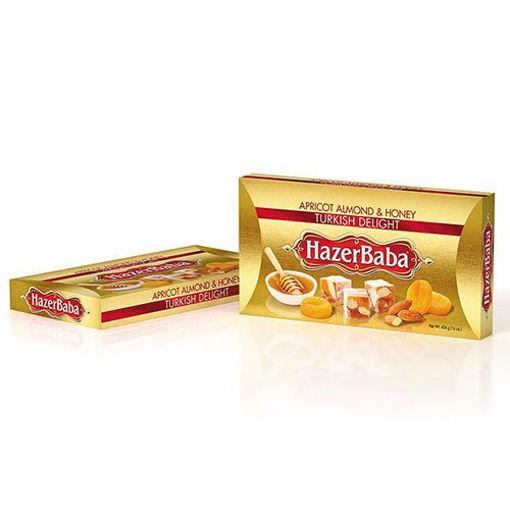 HAZERBABA Apricot & Almond & Honey Turkish Delight 454g resmi