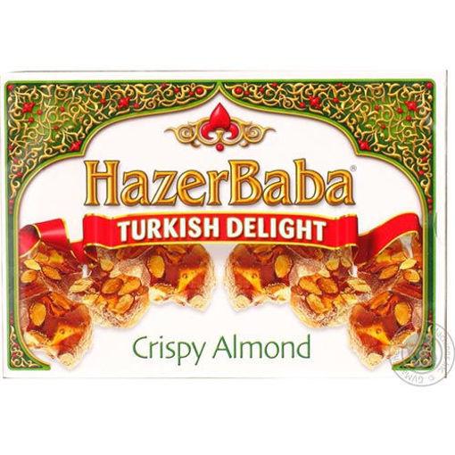 HAZERBABA Crispy Almond Turkish Delight 454g resmi